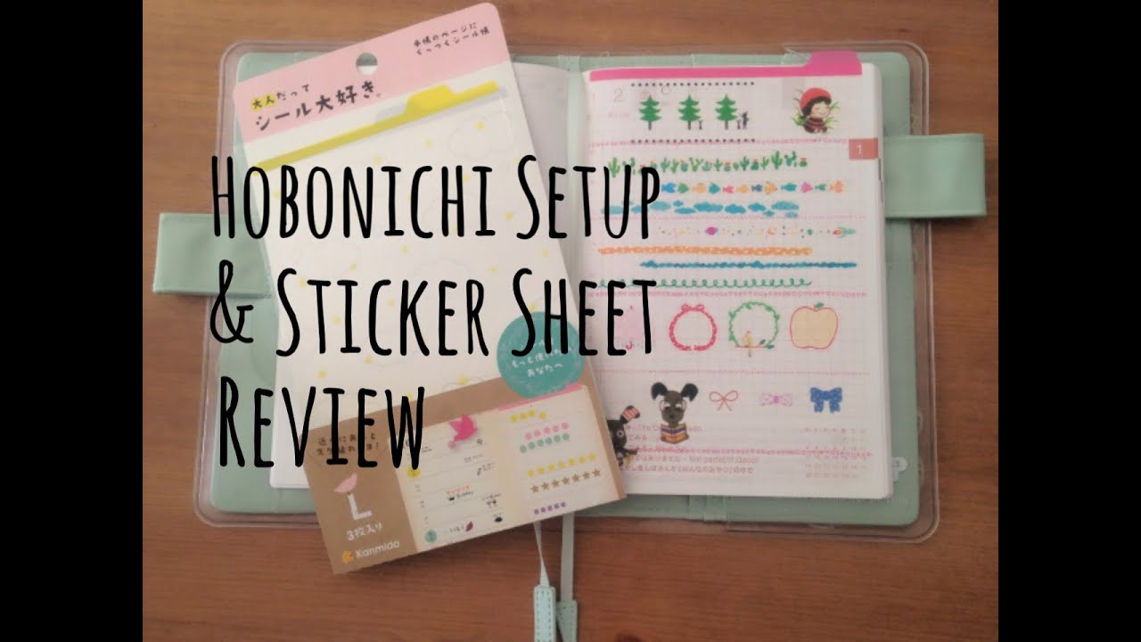 watch me setup my hobonichi techo  u0026 sticker sheet