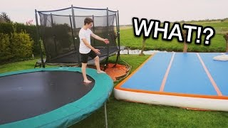 THE ULTIMATE BACKYARD! (Trampolines & Airtrack)