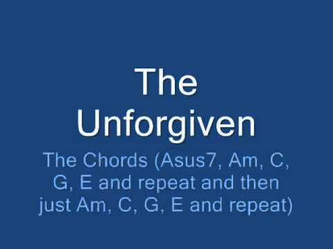 The Unforgiven Intro Solo And Chords Youtube