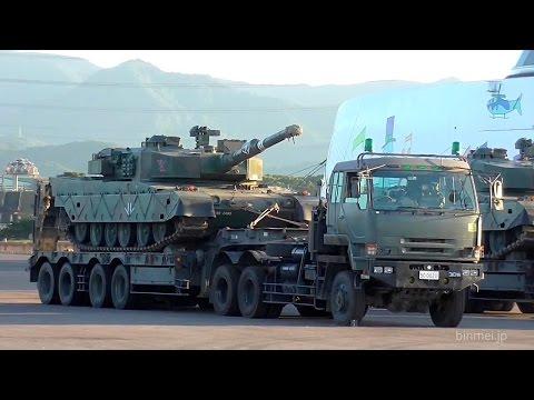 陸上自衛隊90式戦車 高速船ナッチャンWORLDで輸送~特大型運搬車へ搭載@大分-2015 JGSDF TYPE 90 TANK