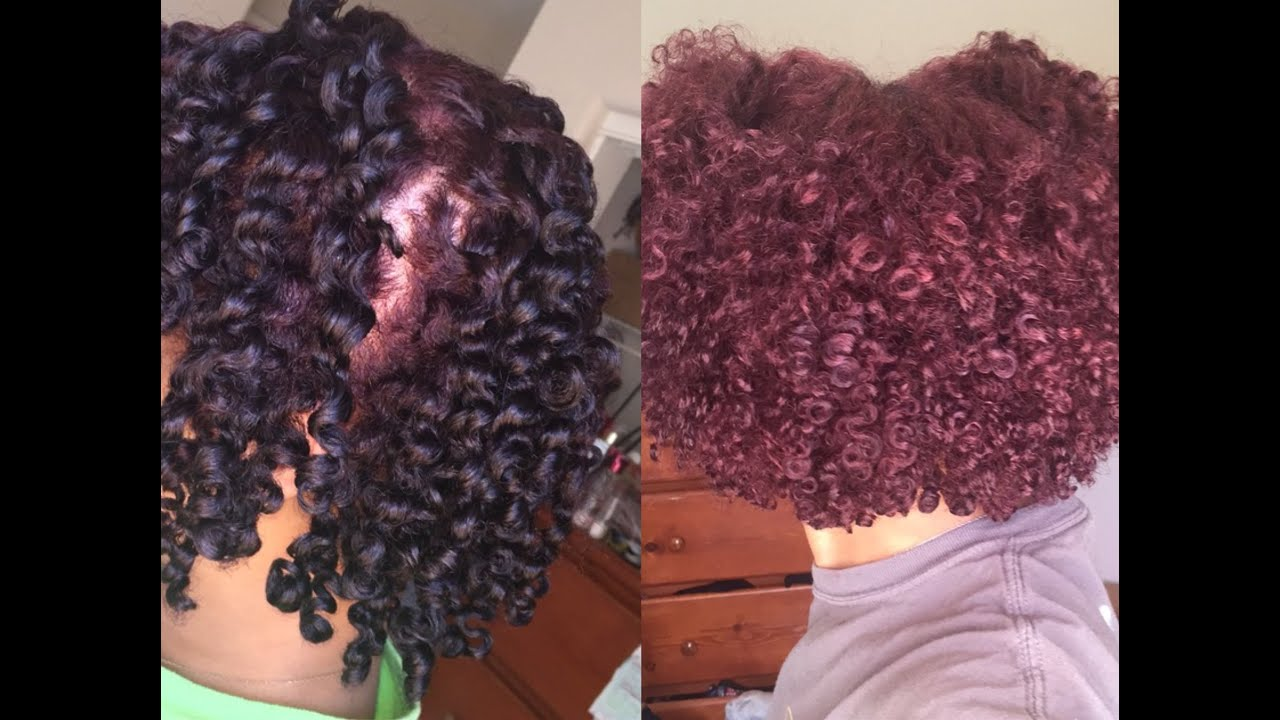 Plum Colored Natural Hair