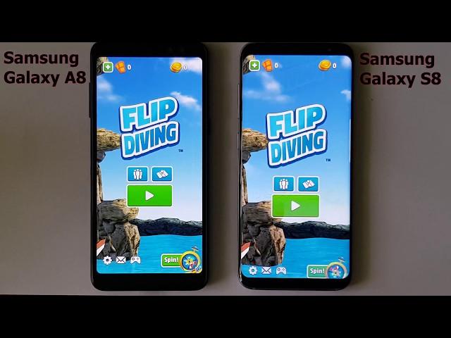 Samsung Galaxy A8 2018 vs Samsung Galaxy S8 - (4K ULTRA HD)