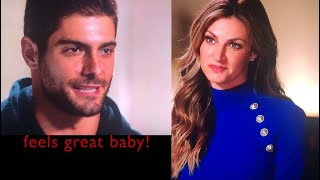 """49ers Jimmy Garoppolo interviewed by Erin Andrews """" Feels Great Baby"""""""