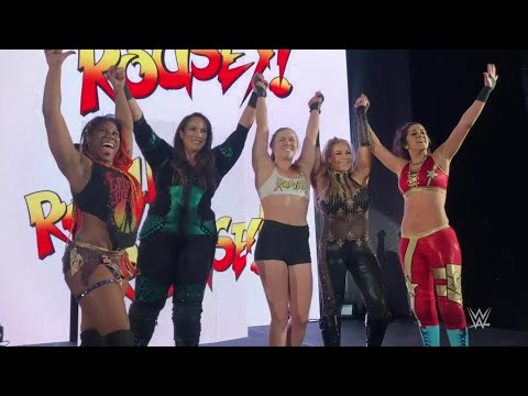 ROnda Rousey vs. Gets Rowdy Alongside Nia Jax At WWE Live Event