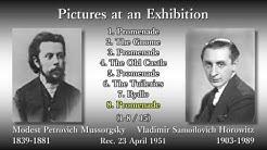 Mussorgsky: Pictures at an Exhibition, Horowitz (1951) ムソルグスキー「展覧会の絵」ホロヴィッツ