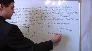 ЕГЭ физика оптика  2012. Линза. Видео репетитор онлайн.