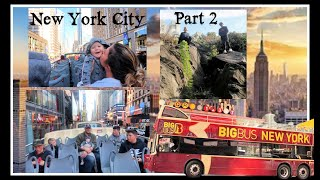 Weekend in New York City part 2, taking Big Bus Tours through the city! October 2019