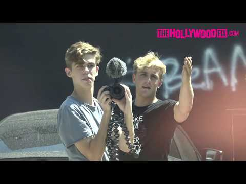 Jake vs paparazzi Jake Paul behind the scenes (Most cringy)