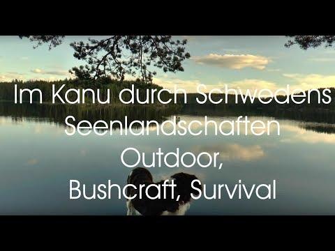 im Kanu in Schwedens Seenlandschaften Outdoor Bushcraft Survival