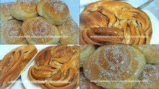 Rosca de canela e pão doce com massa econômica.