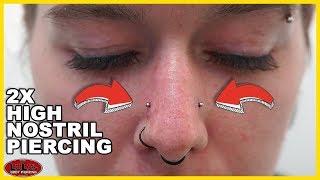 Double High Nostril Piercing!!