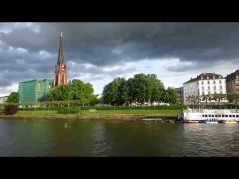 Along the Main River in Frankfurt.