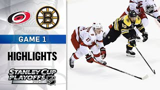 NHL Highlights | First Round, Gm1: Hurricanes @ Bruins - Aug. 12, 2020