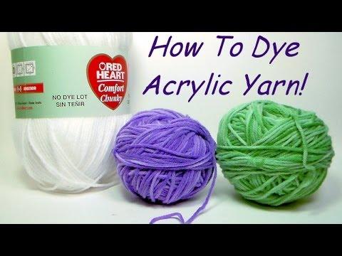 how to dye acrylic yarn