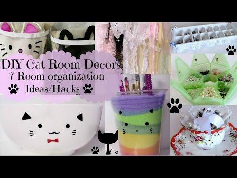 DIY Cat Room Decors and 7 Room organization Ideas/Hacks