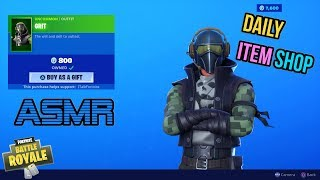 ASMR | Fortnite NEW Grit Skin and Red Streak Pickaxe! Item Shop Update 🎮🎧Relaxing Whispering😴💤