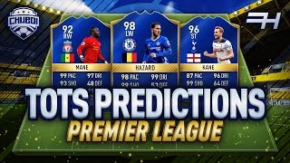 Chuboi's premier league tots prediction! | fifa 17 ultimate team