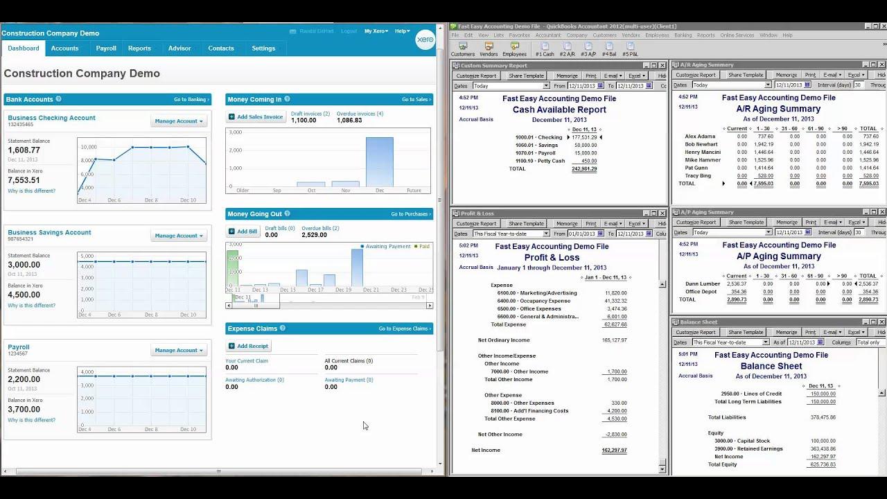 QuickBooks Vs. Xero Accounting Online For Construction