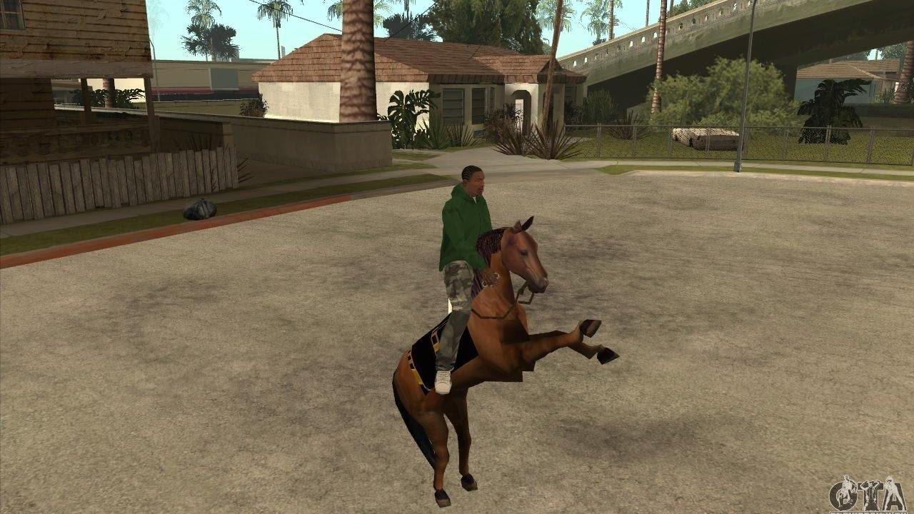 كلمة سر سان اندرس الحصان|كيفية تركيب مود الحصان في لعبة جاتا سان اندرس