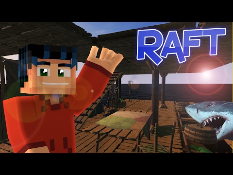 Minecraft Steve Plays RAFT!!  Hes not DEAD!!