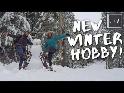 One of our New FAVORITE Winter Activities! Snowshoeing in CANADA