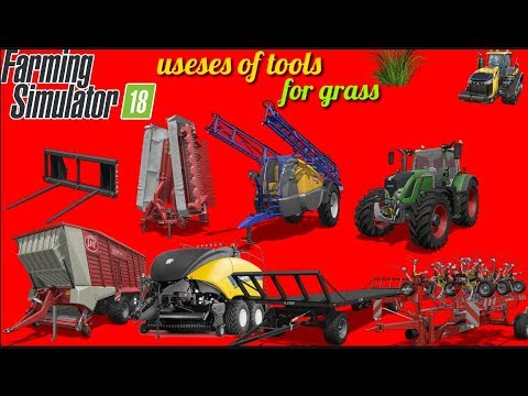 How to use in Fs 18 grass tools|Fs 18|bale tool|grass tool|How to use tools in fs 18