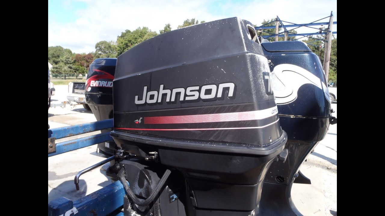 6m8b02f Used 1996 Johnson J70tleda 70hp 2 Stroke Outboard Boat Motor 20 Shaft Youtube
