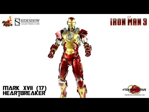 "Video Review of the Hot Toys Iron Man 3: Mark XVII (17) ""Heartbreaker"""