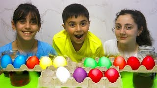 Coloring Easter Eggs with Guka Nastia and Maria