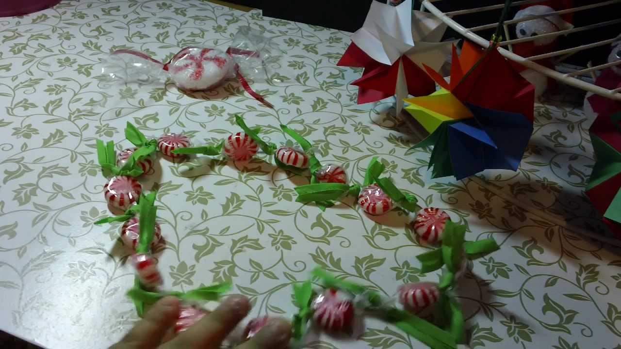 Guirnalda de dulces para navidad facil y original youtube - Como hacer guirnaldas de navidad ...