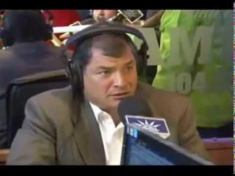 Radio America - Rafael Correa - Ronda de Cahos antes de las elecciones 2013 - cage de risa buenisima