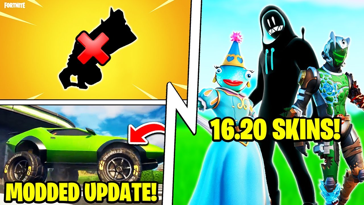 The #1 OP Shotgun Was Removed, Fortnite Car MODS, ALL 16.20 Skins!