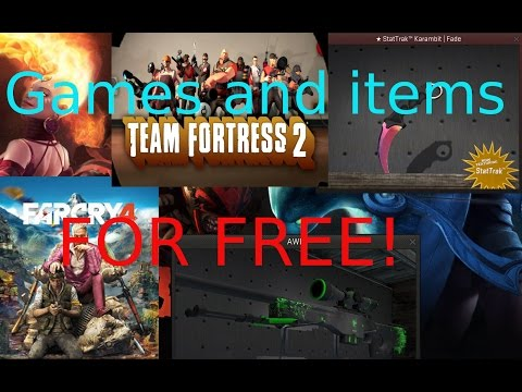 How to get games and items for free and legal (CS:GO and more)