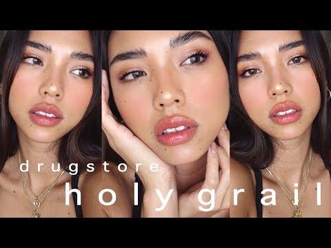 DRUGSTORE MAKEUP TUTORIAL | Full Face Using YOUR Holy Grail Recommendations | rachelteetyler