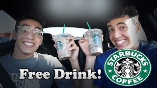 How To Get A 'FREE' Drink At Starbucks! (Life Hacks)