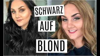 Haare von SCHWARZ zu BLOND färben - ohne Friseur!