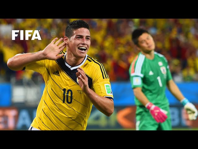 James Rodriguez goal vs Japan | ALL THE ANGLES | 2014 FIFA World Cup