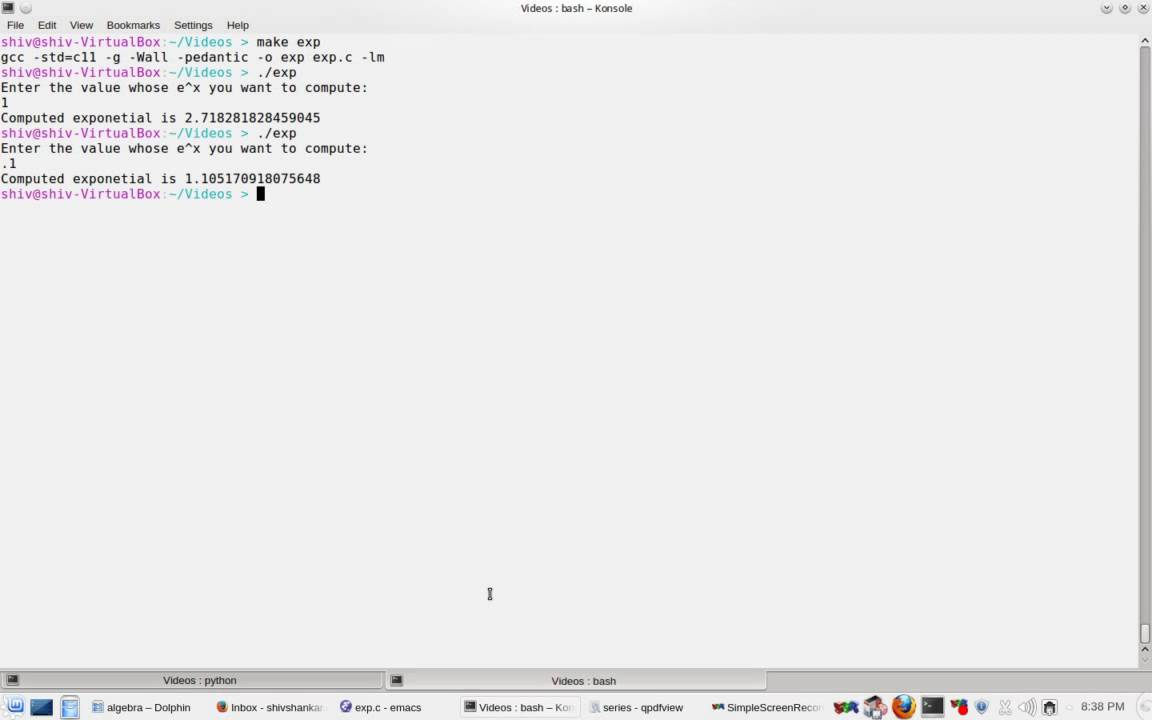 c programming part 75 exponent function implementation