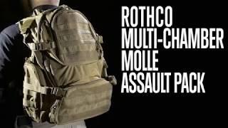 Multi-Chamber MOLLE Assault Pack - Product Breakdown