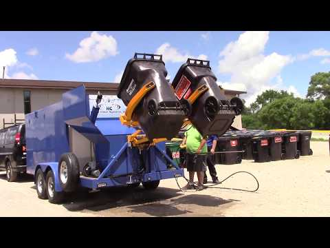Trash Bin Cleaning Systems - Wheelie Bin Cleaning Systems - Pressure Cleaning Systems