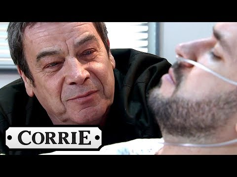 Coronation Street - Johnny Cries With Love Next to Aidan's Bedside