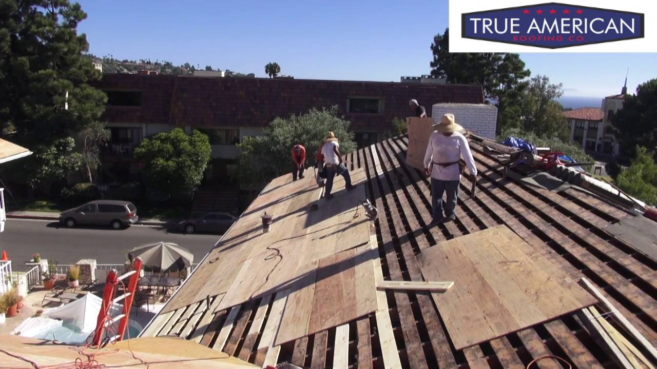 How To Install Plywood For A Tile Roof Palos Verdes Estates Roofing