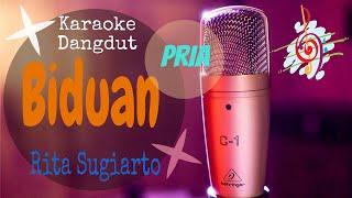 Download Karaoke Biduan Rita Sugiarto Nada Pria (Karaoke Dangdut Lirik Tanpa Vocal)
