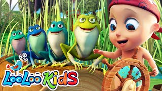 Johny and Five Little Speckled Frogs - LooLooKids Baby Songs | Educational Songs