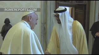 Pope Francis meets with Crown Prince of Abu Dhabi, Mohammed bin Zayed