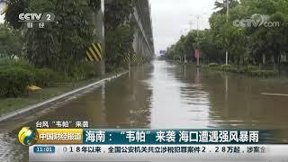 """[中国财经报道]台风""""韦帕""""来袭 海南:""""韦帕""""来袭 海口遭遇强风暴雨  CCTV财经"""