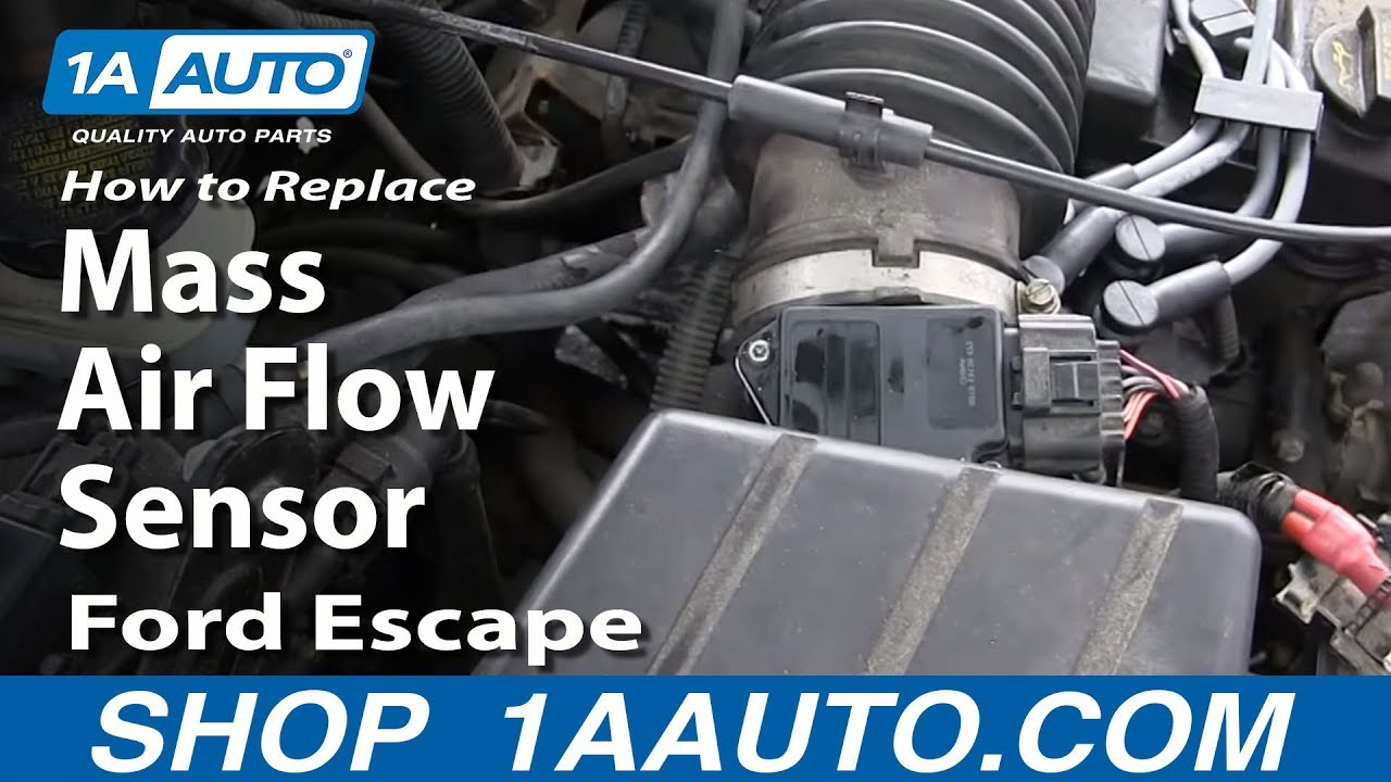 how to install replace maf mass air flow meter sensor 2 0l ford escape youtube [ 1280 x 720 Pixel ]