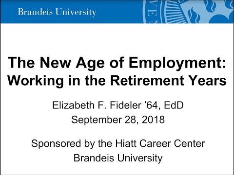 The New Age of Employment (Part 1): Working in the Retirement Years