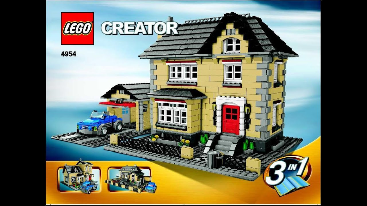 4954 lego creator building instructions for 4954 3 in 1 for Lego classic house instructions