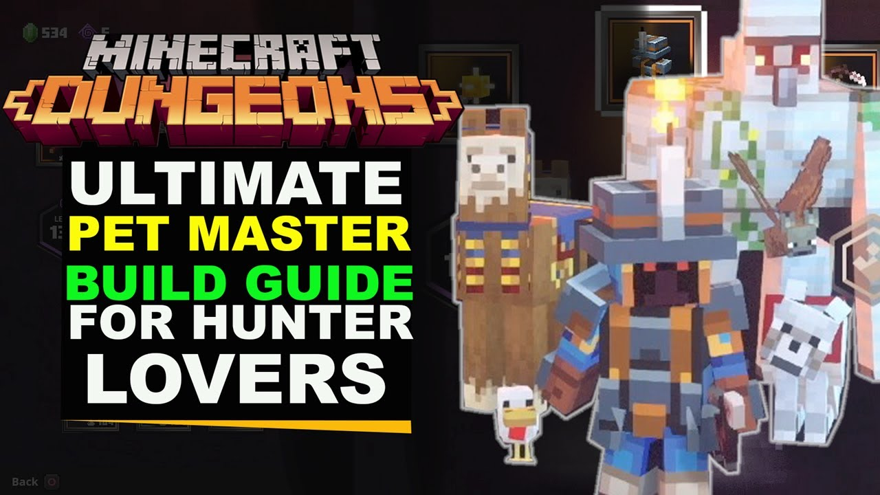 Minecraft Dungeons PET MASTER (Build Guide) YouTube
